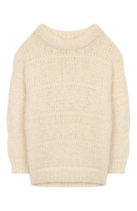 Детский шерстяной свитер DESIGNERS, REMIX GIRLS молочного цвета, арт. 15315 | Фото 1