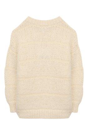 Детский шерстяной свитер DESIGNERS, REMIX GIRLS молочного цвета, арт. 15315 | Фото 2