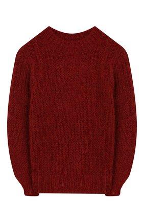 Детский шерстяной свитер DESIGNERS, REMIX GIRLS красного цвета, арт. 15316 | Фото 1