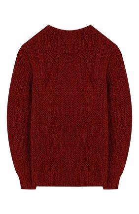 Детский шерстяной свитер DESIGNERS, REMIX GIRLS красного цвета, арт. 15316 | Фото 2