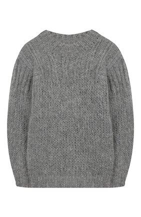 Детский шерстяной свитер DESIGNERS, REMIX GIRLS серого цвета, арт. 15316 | Фото 1