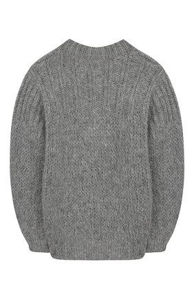 Детский шерстяной свитер DESIGNERS, REMIX GIRLS серого цвета, арт. 15316 | Фото 2