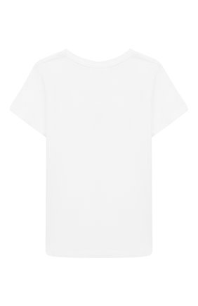 Детская хлопковая футболка DESIGNERS, REMIX GIRLS белого цвета, арт. 15318 | Фото 2