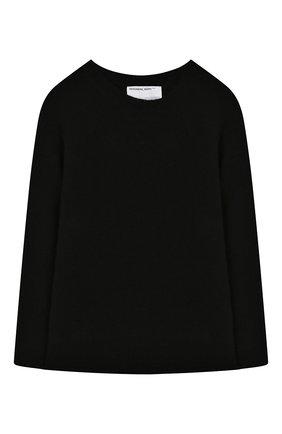 Детский шерстяной пуловер DESIGNERS, REMIX GIRLS черного цвета, арт. 15411 | Фото 1