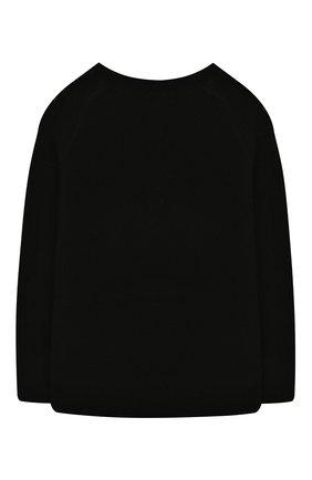 Детский шерстяной пуловер DESIGNERS, REMIX GIRLS черного цвета, арт. 15411 | Фото 2