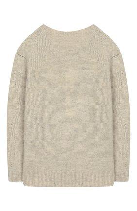 Детский шерстяной пуловер DESIGNERS, REMIX GIRLS бежевого цвета, арт. 15411 | Фото 2