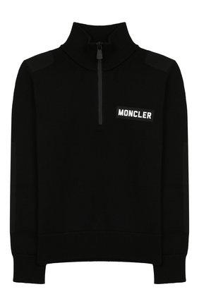 Детский шерстяной свитер MONCLER ENFANT черного цвета, арт. E2-954-92000-05-A9155/8-10A | Фото 1