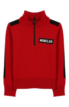 Детский шерстяной свитер MONCLER ENFANT красного цвета, арт. E2-954-92000-05-A9155/8-10A | Фото 1