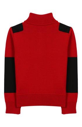 Детский шерстяной свитер MONCLER ENFANT красного цвета, арт. E2-954-92000-05-A9155/8-10A | Фото 2