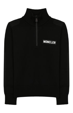 Детский шерстяной свитер MONCLER ENFANT черного цвета, арт. E2-954-92000-05-A9155/12-14A | Фото 1