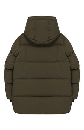 Детский пуховая куртка с капюшоном BURBERRY хаки цвета, арт. 8017781 | Фото 2