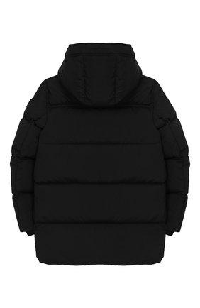 Детский пуховая куртка с капюшоном BURBERRY черного цвета, арт. 8017782 | Фото 2