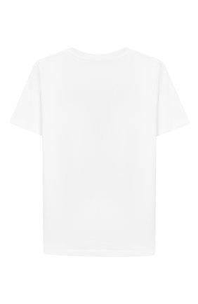 Детская хлопковая футболка BURBERRY белого цвета, арт. 8017848 | Фото 2