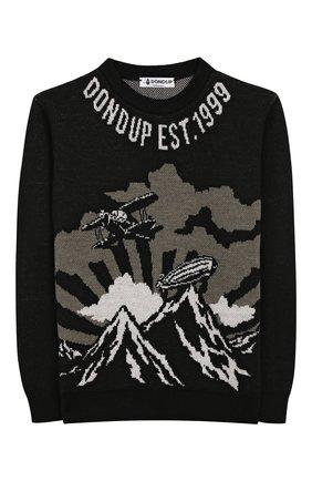 Детский шерстяной пуловер DONDUP черного цвета, арт. BM194/MY0018B/XXX | Фото 1