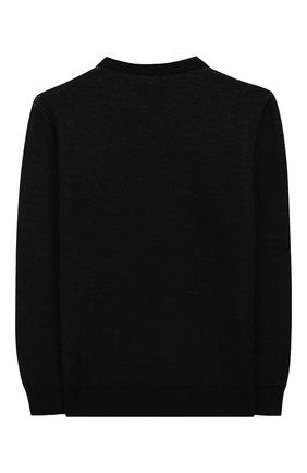 Детский шерстяной пуловер DONDUP черного цвета, арт. BM194/MY0018B/XXX | Фото 2
