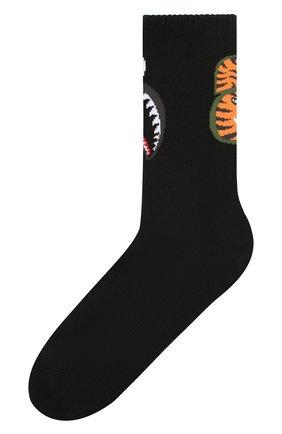 Мужские хлопковые носки BAPE черного цвета, арт. 1F20183013 | Фото 1