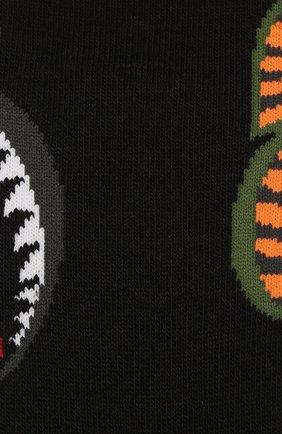 Мужские хлопковые носки BAPE черного цвета, арт. 1F20183013 | Фото 2