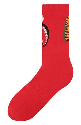 Мужские хлопковые носки BAPE красного цвета, арт. 1F20183013 | Фото 1