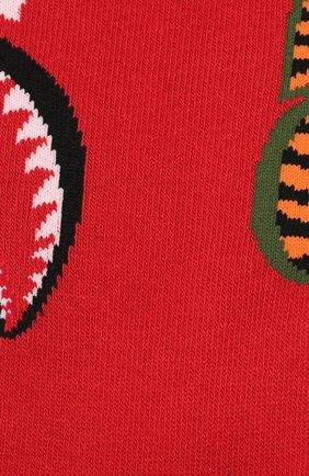 Мужские хлопковые носки BAPE красного цвета, арт. 1F20183013 | Фото 2