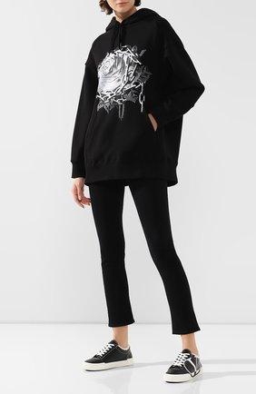 Женские кожаные кеды valentino garavani tricks VALENTINO черного цвета, арт. SW2S0P35/AXV | Фото 2