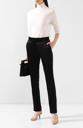 Женские брюки из вискозы HELMUT LANG черного цвета, арт. J06HW207 | Фото 2