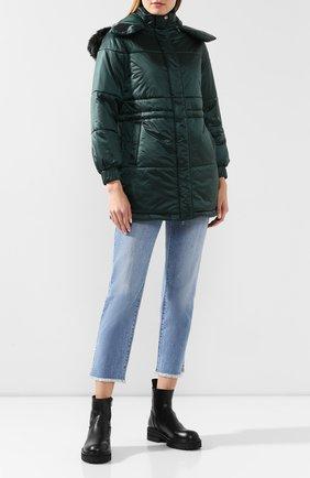 Женский утепленная куртка EMPORIO ARMANI зеленого цвета, арт. 6G2L77/2NUNZ   Фото 2