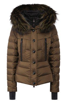 Женский пуховая куртка MONCLER GRENOBLE хаки цвета, арт. E2-098-45362-25-5399E | Фото 1