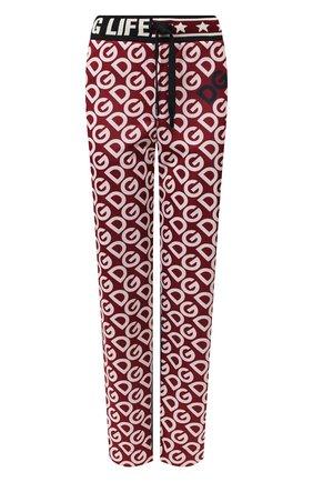 Женские брюки DOLCE & GABBANA бордового цвета, арт. FTBMBT/FS79D | Фото 1