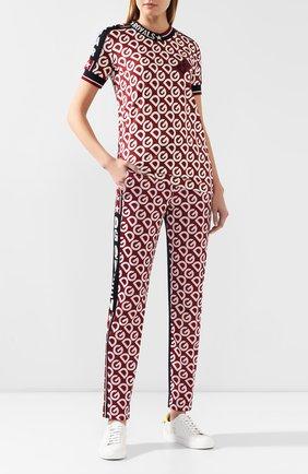 Женские брюки DOLCE & GABBANA бордового цвета, арт. FTBMBT/FS79D | Фото 2