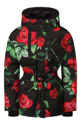 Женский пуховая куртка DOLCE & GABBANA красного цвета, арт. F9G34T/HSM07 | Фото 1
