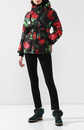 Женский пуховая куртка DOLCE & GABBANA красного цвета, арт. F9G34T/HSM07 | Фото 2