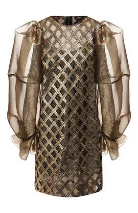 Женское платье DOLCE & GABBANA золотого цвета, арт. F6F2CT/FGMDY | Фото 1