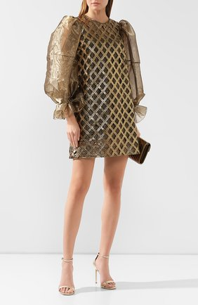 Женское платье DOLCE & GABBANA золотого цвета, арт. F6F2CT/FGMDY | Фото 2