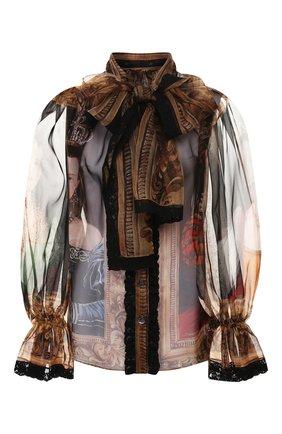 Блузка из смеси шелка и хлопка   Фото №1