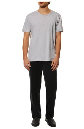 Мужские комплект из двух хлопковых футболок EMPORIO ARMANI черного цвета, арт. 111647/CC722   Фото 2