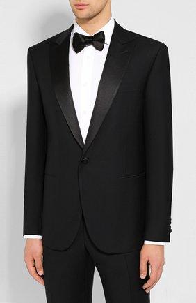 Мужской шерстяной смокинг CORNELIANI черного цвета, арт. 847210-9817290/92G1 | Фото 2