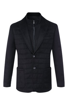Мужская шелковая куртка ZILLI темно-синего цвета, арт. MNS-GCZ1-2-B6462/0001   Фото 1