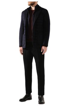 Мужская шелковая куртка ZILLI темно-синего цвета, арт. MNS-GCZ1-2-B6462/0001   Фото 2