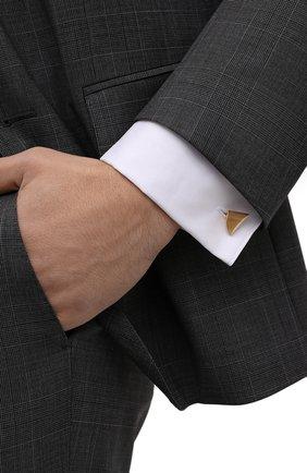 Мужские запонки LANVIN золотого цвета, арт. 9778/9 | Фото 2