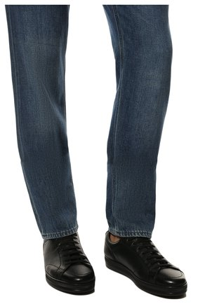 Мужские кожаные кеды DOUCAL'S черного цвета, арт. DU1773GENTUM019NN00 | Фото 3