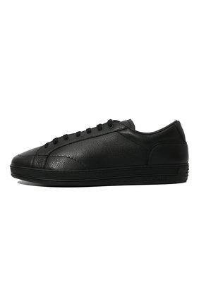 Мужские кожаные кеды DOUCAL'S черного цвета, арт. DU1773GENTUM019NN00 | Фото 4