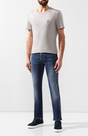 Мужские джинсы JACOB COHEN синего цвета, арт. J620 C0MF 08364-W2/52   Фото 2