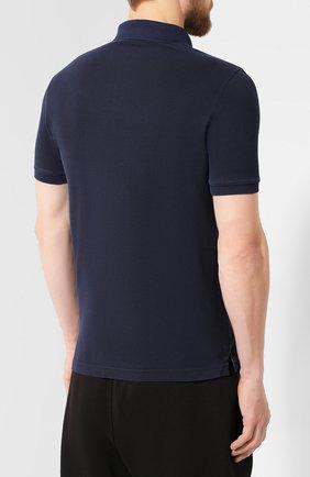 Мужское хлопковое поло STONE ISLAND темно-синего цвета, арт. 711522S67 | Фото 4