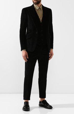 Мужской хлопковый жилет DOLCE & GABBANA черного цвета, арт. G700PT/FUVHA   Фото 2