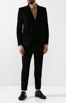 Мужской хлопковый пиджак DOLCE & GABBANA черного цвета, арт. G2MD4T/FUVHA | Фото 2