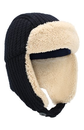 Шерстяная шапка-ушанка   Фото №1