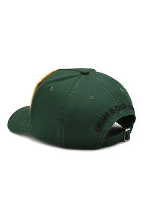Мужской хлопковая бейсболка DSQUARED2 зеленого цвета, арт. BCM0245 05C00001 | Фото 2