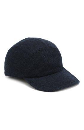 Мужской кашемировая бейсболка SVEVO темно-синего цвета, арт. 01041SA19/MP01/2 | Фото 1
