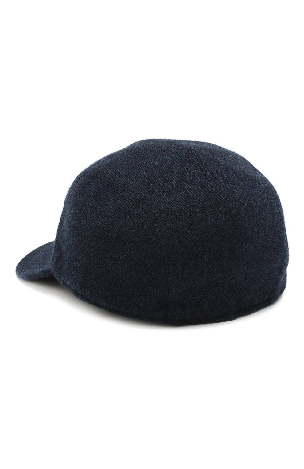 Мужской кашемировая бейсболка SVEVO темно-синего цвета, арт. 01041SA19/MP01/2 | Фото 2