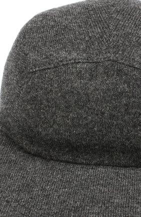 Мужской кашемировая бейсболка SVEVO темно-серого цвета, арт. 01041SA19/MP01/2   Фото 3